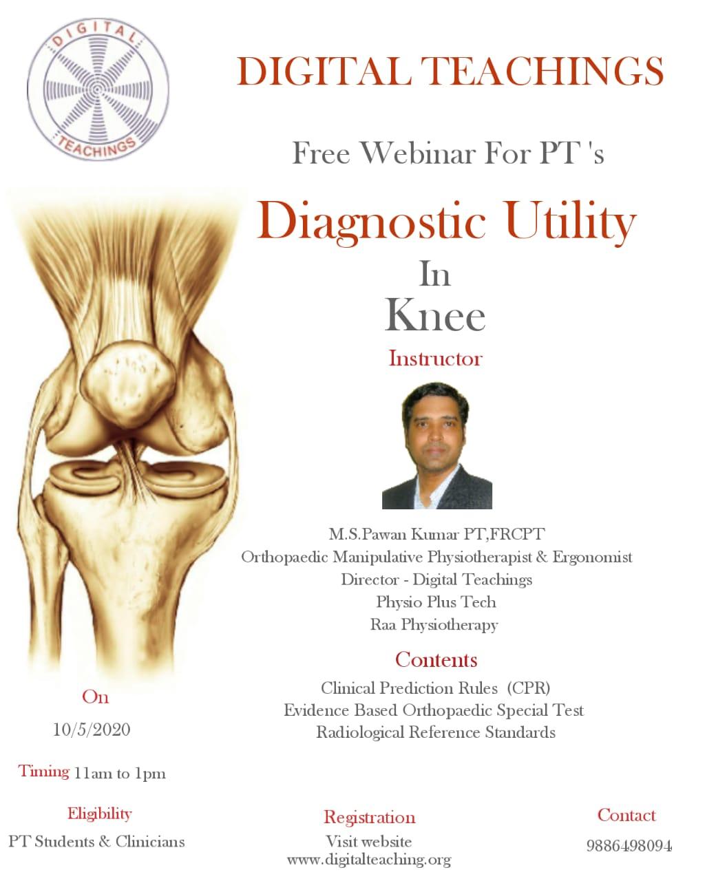 Knee – Diagnostic Utility Registration