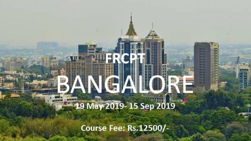 FRCPT- Summer 2019, Bangalore – Fee, Venue & Schedule