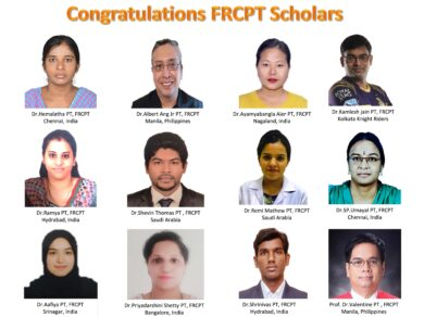 Congratulations FRCPT Scholars